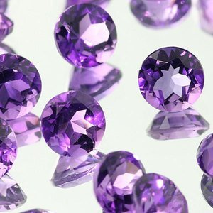 Certified  Lot Of 10 Pcs Natural Amethyst Faceted Gemstones 6 M.M. Round Loose Calibrated