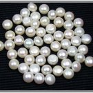 Certified Lot Of 50 Pieces Fresh water Pearl 10*10 mm Round Button Calibrated