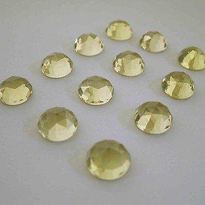 Certified  AAA Quality 10 Pieces Natural Lemon Quartz 11 MM Round Rose Cut Loose Gemstones