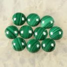 Certified AAA Quality 25 Pieces Natural Malachite Cabochon 3 MM Round Loose Gemstones