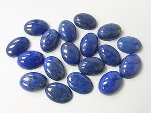 Certified  Lot of 25 Pieces AAA Quality Lapis Lazuli 8x10 M.M. Oval Cabochon