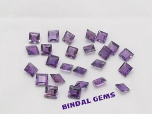 Cartified AAA Quality 25 Pieces Natural Amethyst 9 mm Square Loose Faceted Gemstones