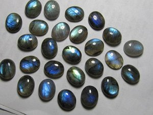 Certified Lot Of 10 Pieces Labradorite Gemstones 8x12 M.M. Oval Loose calibrated