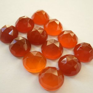 Certified Lot of 25 Pieces AAA Quality Red Onyx 9x9 m.m. Round Rose cut
