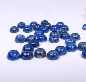 Certified  Lot of 25 Pieces AAA Quality Lapis Lazuli 6x6 M.M. Round Cabochon Calibarated