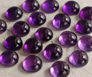 Certified Lot of Stunning 10 Pieces AAA Amethyst 6 M.M. Round Loose Cabochon Calibarated