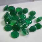 Certified AAA Quality 10 Pieces Natural Green Onyx 10x14 mm Oval Faceted Calibrated