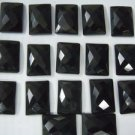 Certified Lot of 25 Pieces AAA Quality Black Onyx 15x20 m.m. Octagon Checker cut