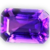 Certified AAA Quality 25 Pieces Natural Amethyst 4x6 mm Octagon Loose Faceted Gemstones