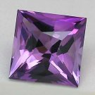 Cartified AAA Quality 25 Pieces Natural Amethyst 4 mm Square Loose Faceted Gemstones