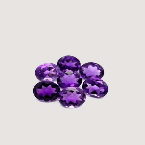 Certified Natural Amethyst AA Quality 5x7 mm faceted Oval 5 pcs Lot