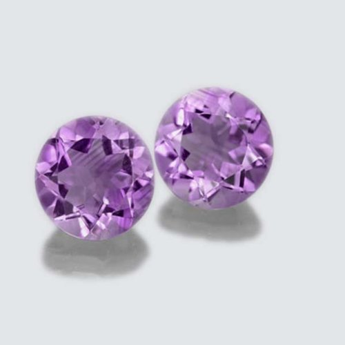 Certified Natural Amethyst AA Quality 9 mm faceted Round 1 pair 2 pcs