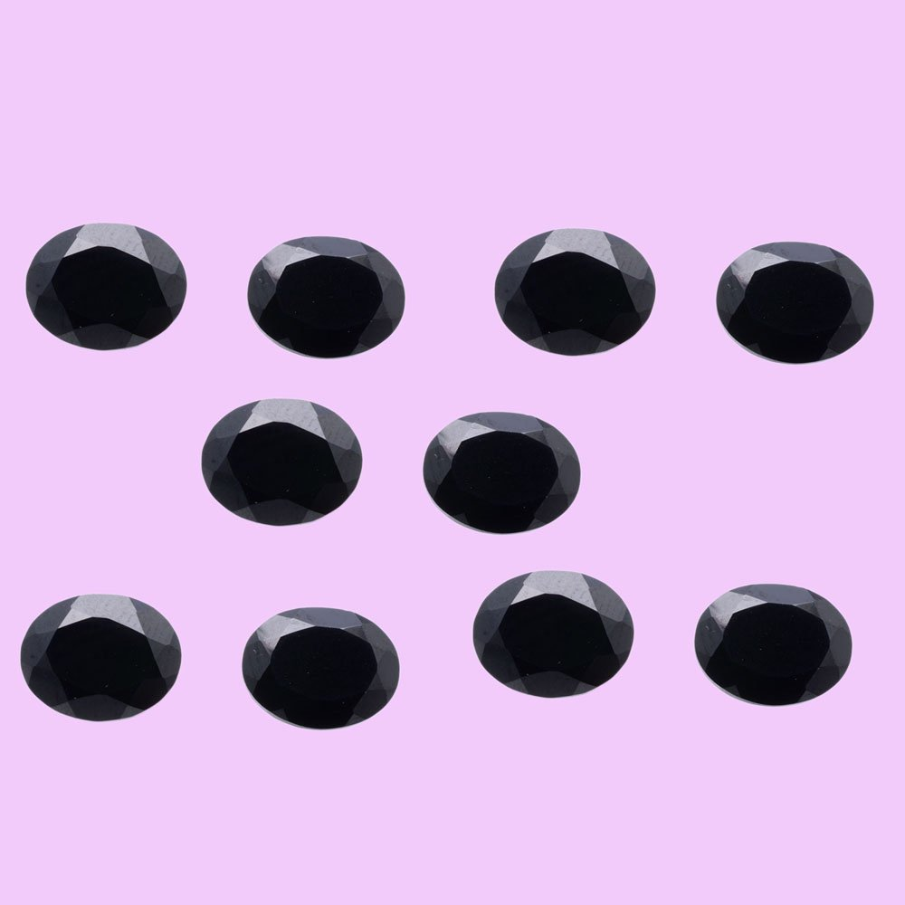 Certified Natural Black Spinel AAA Quality 6x4 mm Faceted Oval 10 pcs lot