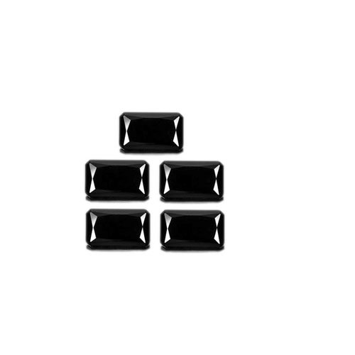 Certified Natural Black Spinel AAA Quality 9x7 mm Faceted Octagon  5 pcs lot