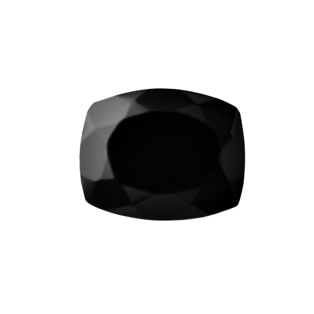 Certified Natural Black Spinel AAA Quality 12 mm Faceted Cushion  1 pc