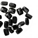Certified Natural Black Spinel AAA Quality 6x4  mm Faceted Cushion  50 pcs lot