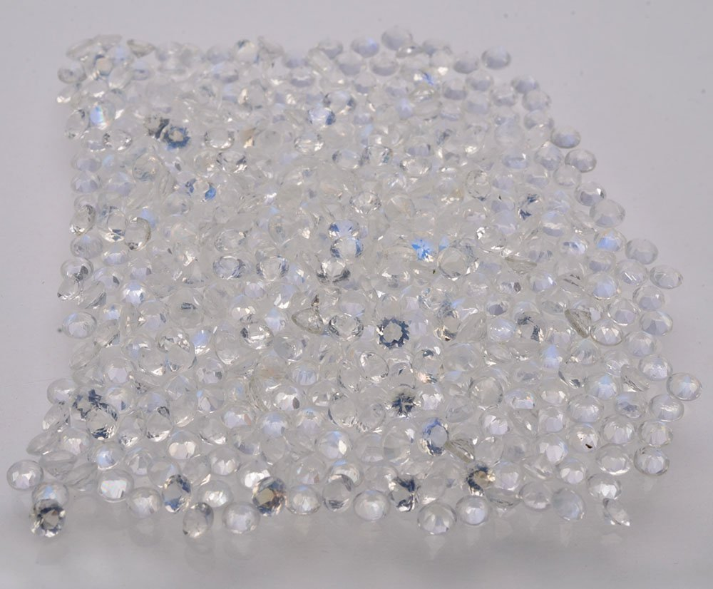 Certified Natural Zircon AAA Quality 1 mm Faceted Round 100 pcs lot