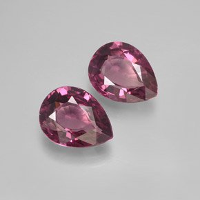 Certified Natural Rhodolite AAA Quality 5x3 mm Faceted pear 10 pcs lot