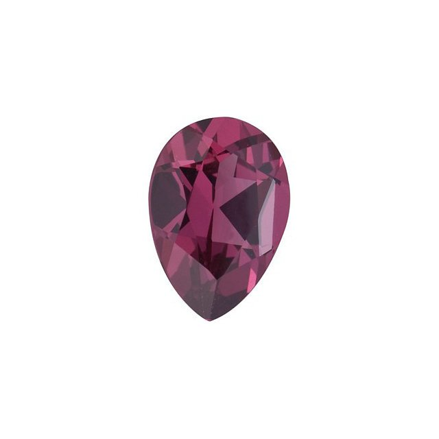 Certified Natural Rhodolite AAA Quality 8x6 mm Faceted pear 1 pc