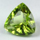 Certified Natural Peridot AAA Quality 4.5 mm Faceted Trillion 1 pc