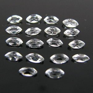 Certified Natural White topaz AAA Quality 7x3.5 mm Faceted Marquise 20 pcs Lot
