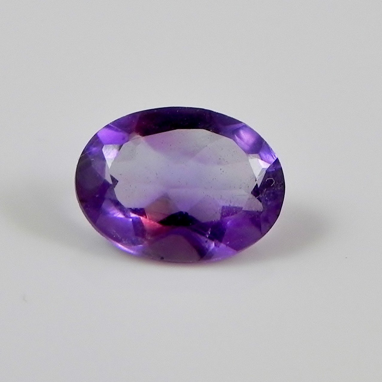 Certified Natural Amethyst AAA Quality 10x12 mm Faceted Oval 1 pc