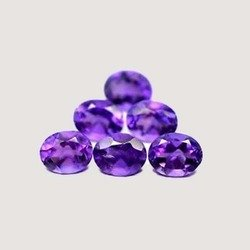 Certified Natural Amethyst AAA Quality 10x12 mm Faceted Oval 5 pcs Lot