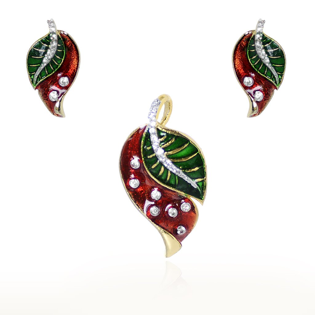 Flowers Designer Earring, Pendant set