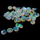 Certified Natural Ethiopian Opal AAA Quality 10x14 mm Faceted Oval 10 pcs Lot loose gemstone