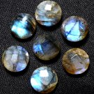 Natural Labradorite AAA Quality 15 mm Faceted Round 5 pcs Lot Loose Gemstone