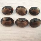 Natural Smoky Quartz 14x10mm  Faceted Cut Oval 5 Pieces  Brown Color - Natural Loose Gemstone