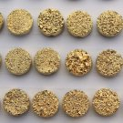 12mm  Natural  Gold Color Coating Flat Druzy Round 100 Pieces Lot Best Top Gold Color Loose Gemstone