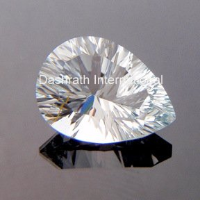 8x12mm Natural Crystal Quartz Concave Cut Pear 1 Piece Top Quality Loose Gemstone