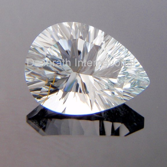 13X18mm Natural Crystal Quartz Concave Cut Pear 2 Piece (1 Pair ) Top Quality Loose Gemstone