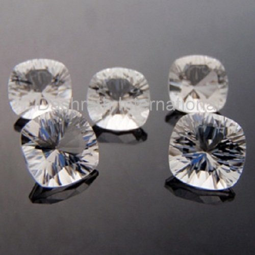 11mm Natural Crystal Quartz Concave Cut Cushion 25 Pieces Lot  Top Quality Loose Gemstone