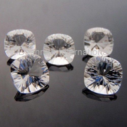 11mm Natural Crystal Quartz Concave Cut Cushion 50 Pieces Lot  Top Quality Loose Gemstone