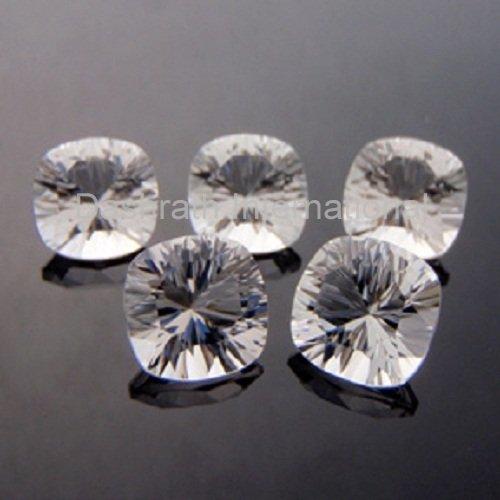 14mm Natural Crystal Quartz Concave Cut Cushion 1 Piece  Top Quality Loose Gemstone
