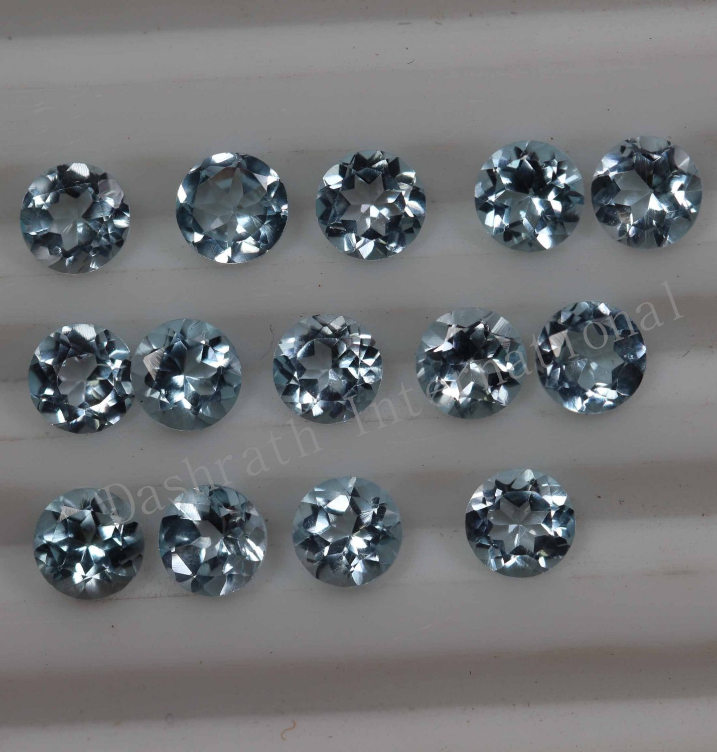 3mmNatural Sky Blue Topaz Faceted Cut Round 100 Pieces Lot Blue Color  Top Quality Loose Gemstone