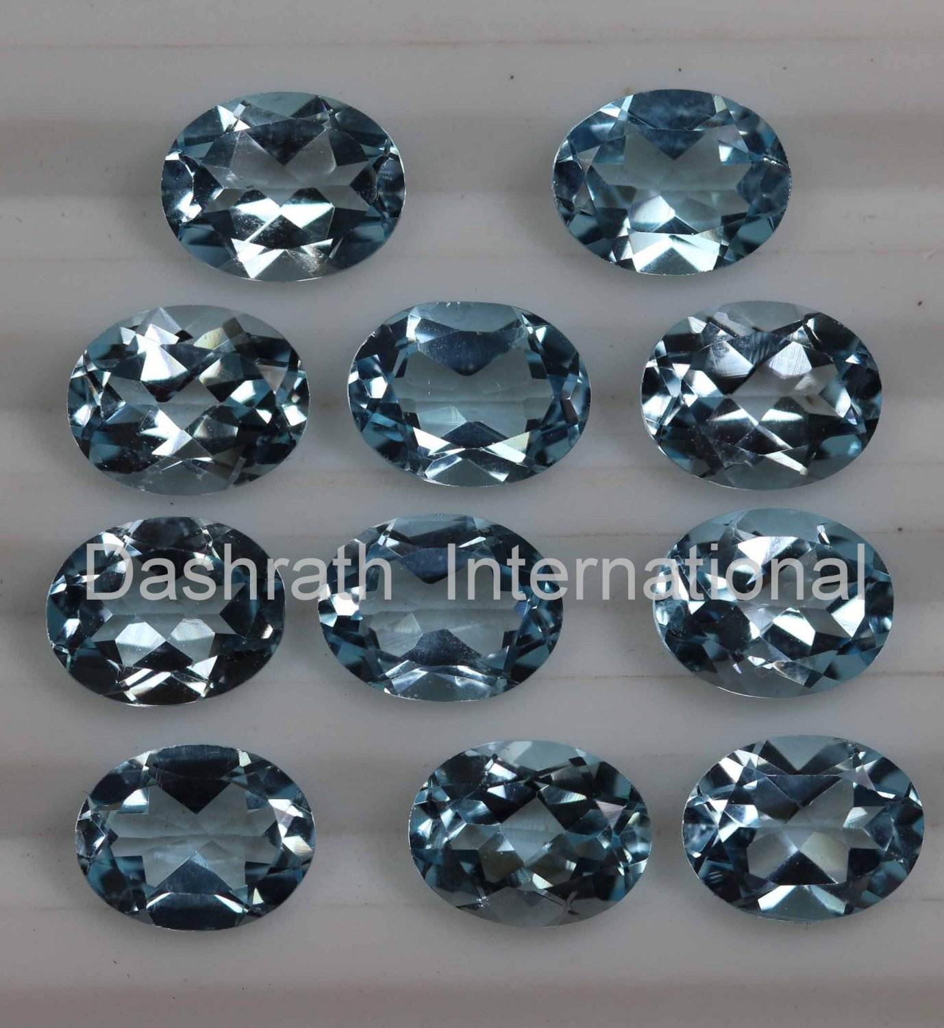 5x3mm Natural Sky Blue Topaz Faceted Cut Oval  2 Piece (1 Pair ) Top Quality Loose Gemstone