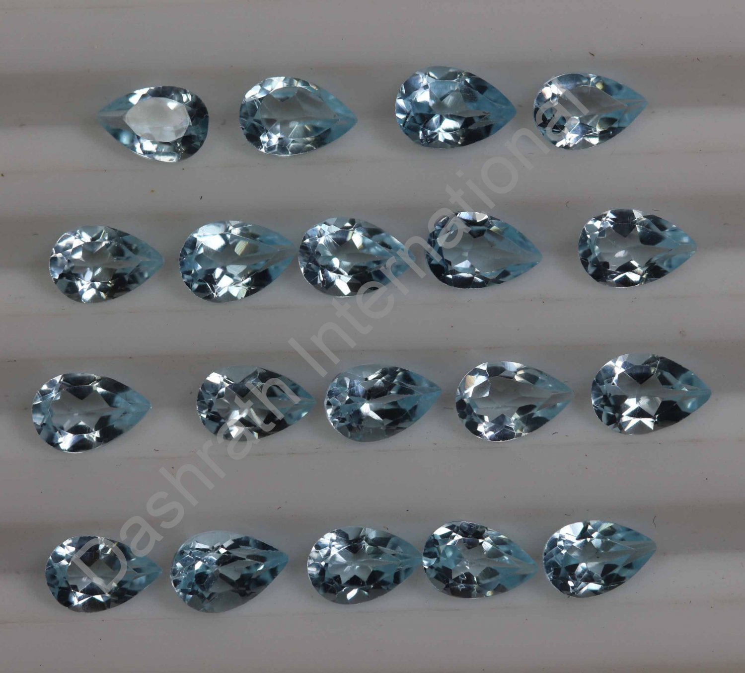 5x3mm Natural Sky Blue Topaz Faceted Cut Pear 50 Pieces Lot Top Quality Loose Gemstone