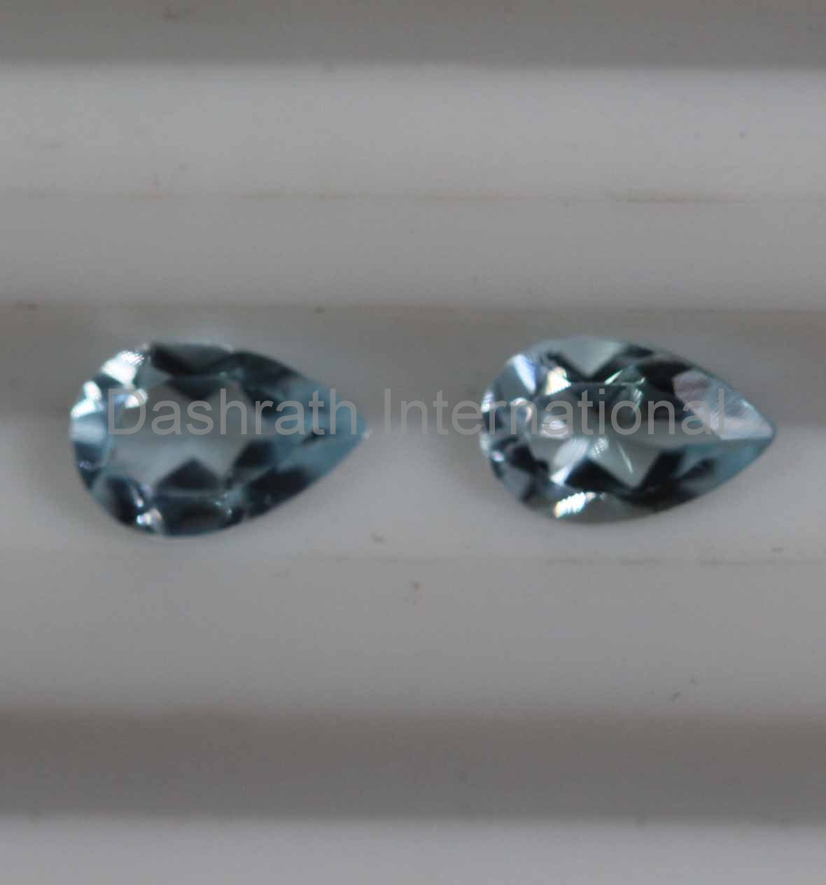 8x6mm Natural Sky Blue Topaz Faceted Cut Pear 2 Piece (1 Pair )  Top Quality Loose Gemstone