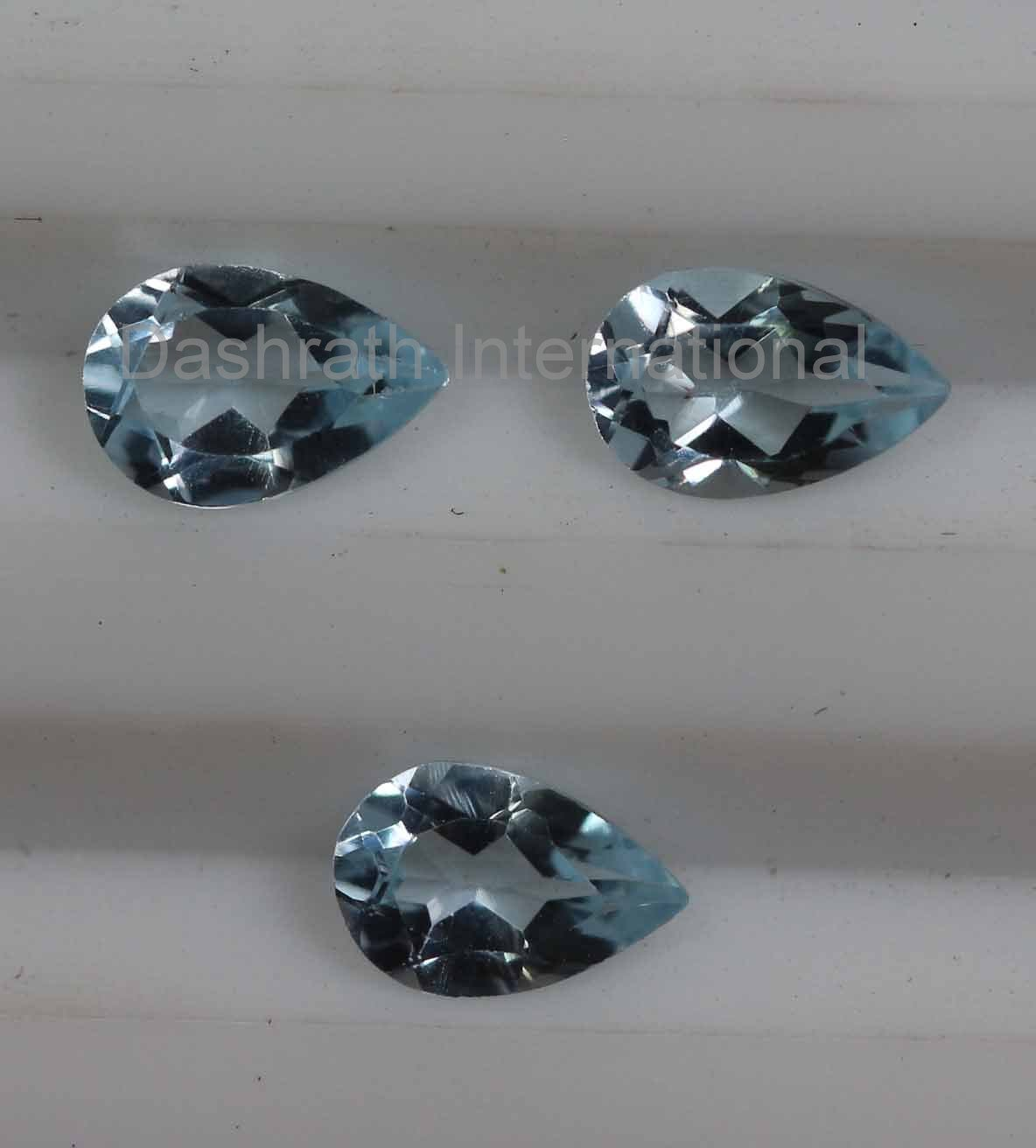 7x10mm  Natural Sky Blue Topaz Faceted Cut Pear 50 Pieces Lot  Top Quality Loose Gemstone