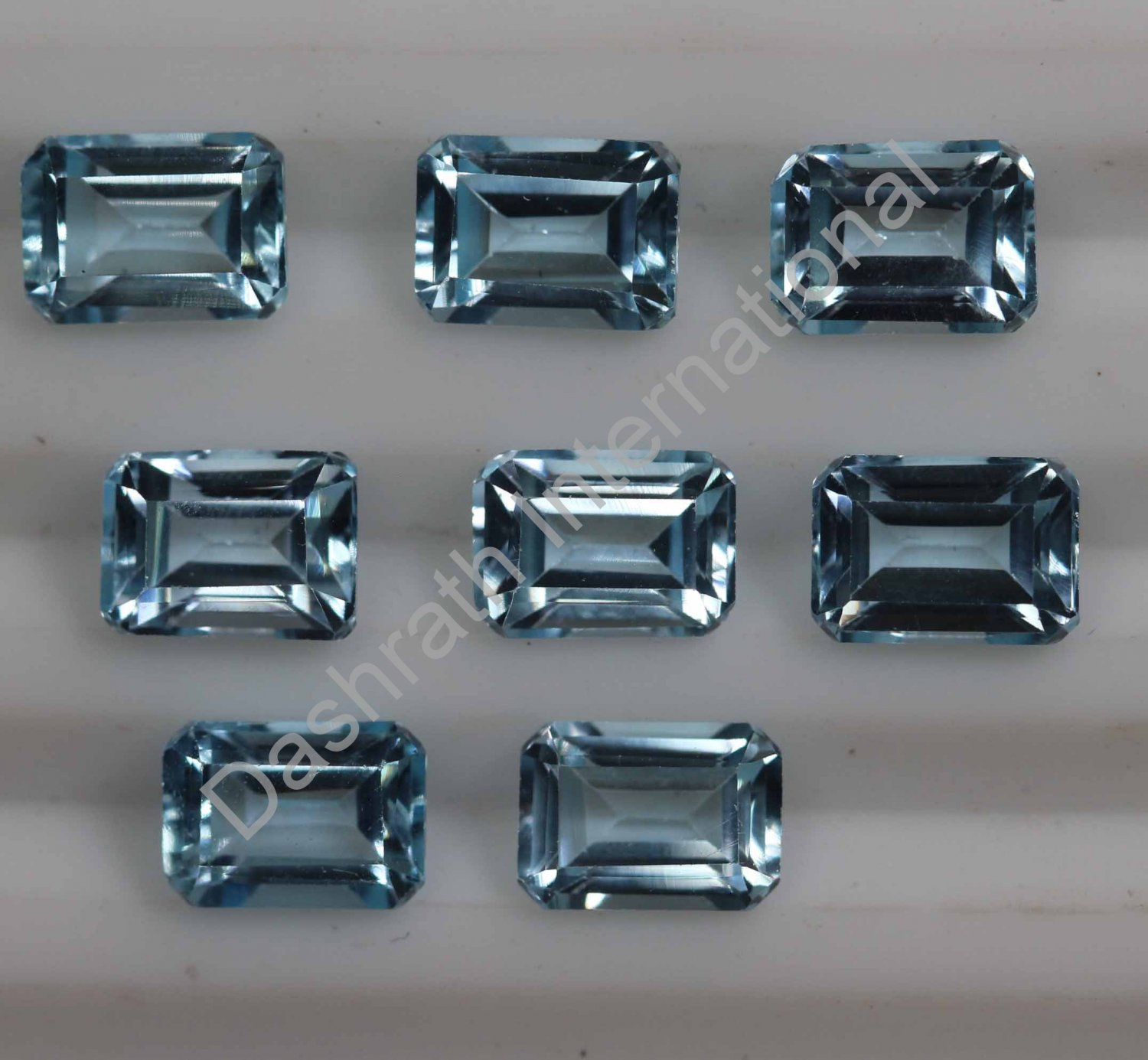 6x4mm Natural Sky Blue Topaz Faceted Cut Octagon 10 Pieces Lot   Top Quality Loose Gemstone