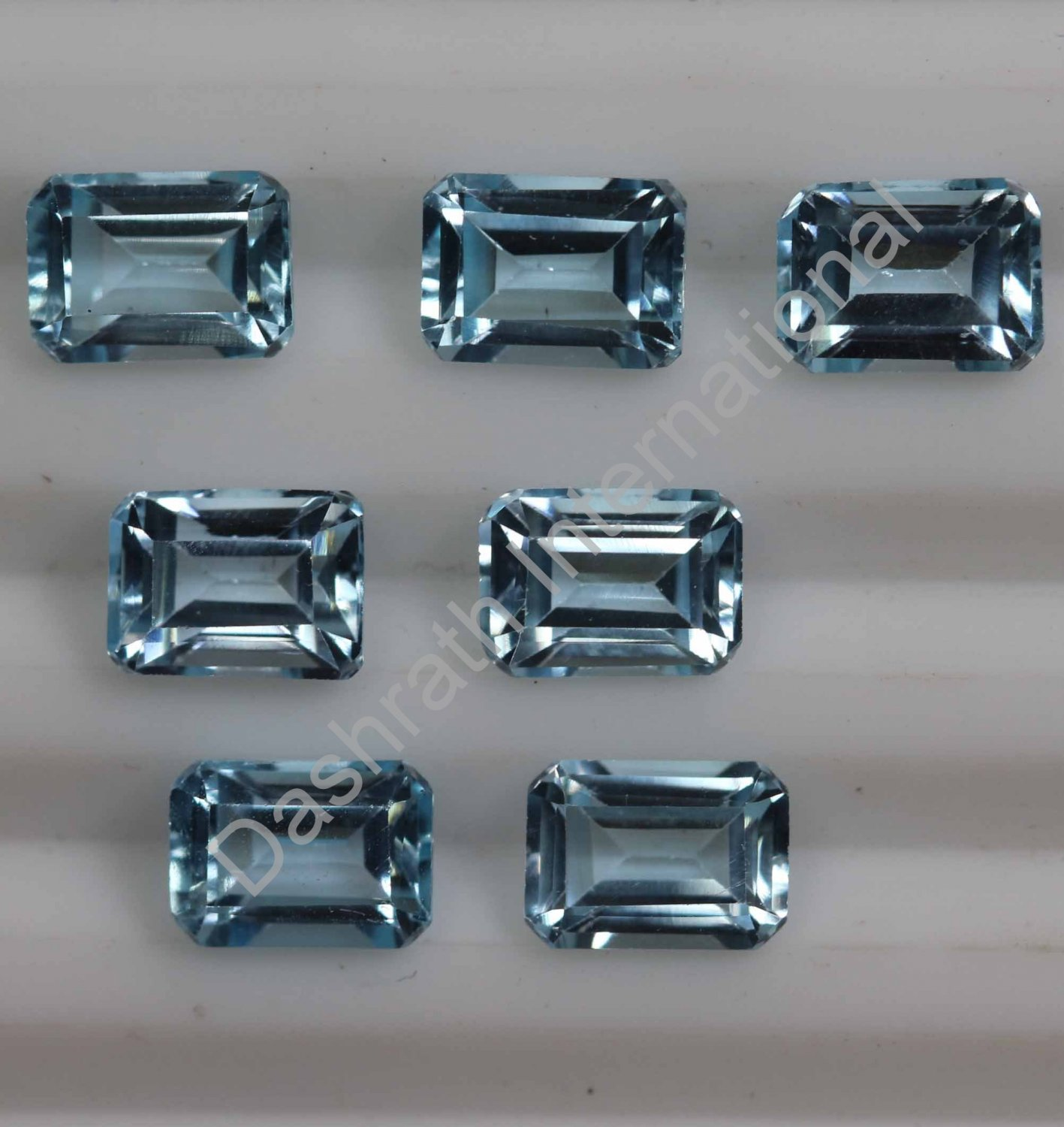 6x4mm Natural Sky Blue Topaz Faceted Cut Octagon 100 Pieces Lot  Top Quality Loose Gemstone