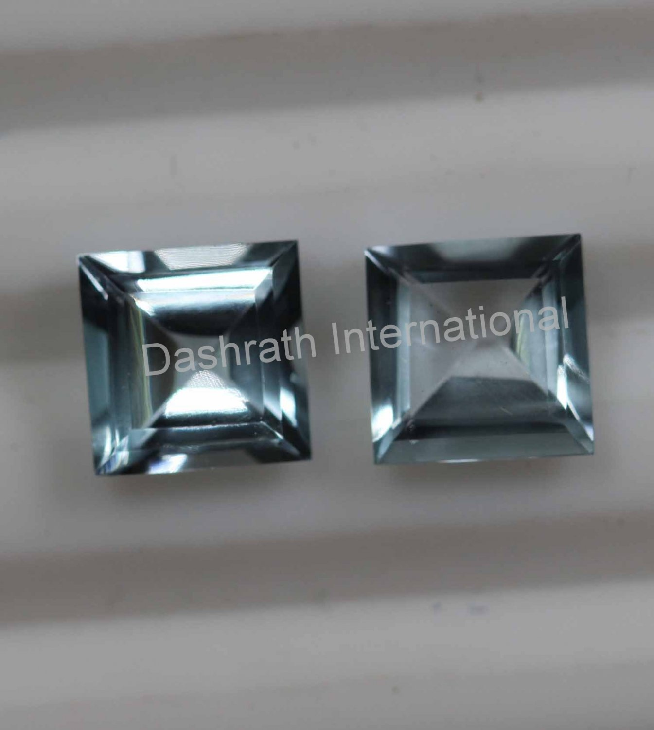 8mm  Natural Sky Blue Topaz Faceted Cut Square 1 Piece  Top Quality Loose Gemstone