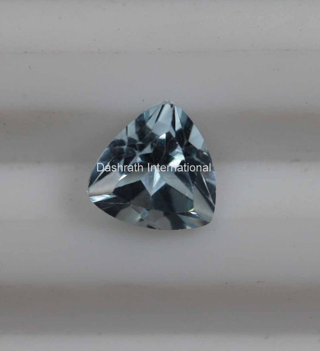 8mm Natural Sky Blue Topaz Faceted Cut Trillion 1 Piece Top Quality Loose Gemstone