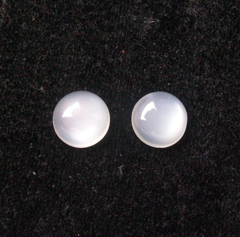8mm Natural White Moonstone Cabochon Round 10 Pieces Lot  White Color Top Quality Loose Gemstone