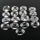 16x12mm  Natural Crystal Quartz Faceted Cut Oval 100 Pieces Lot   Top Quality Loose Gemstone