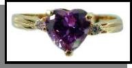 Heart Cut 2 Carat AAA+ Russian Cubic Zirconia Ring LR-1F