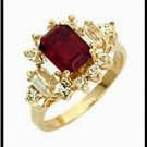 Siam Ruby Red Austrian Crystal With Accents Ring C9D106